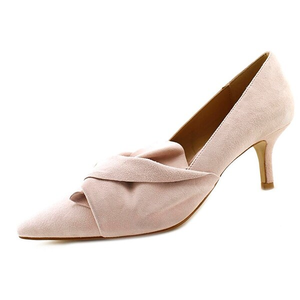 Gunmetal Felona Women Pointed Toe Suede Pink Heels