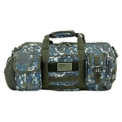 The Tactical Duffle Bag (Small) - Blue Digital Camo