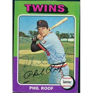 Signed Roof Phil Minnesota Twins 1975 Topps Baseball Card autographed