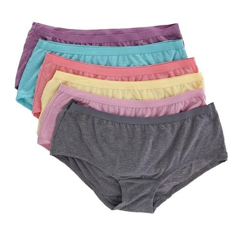 Fruit of the Loom Women's Boy Short Underwear (6 Pair Pack) - Multi