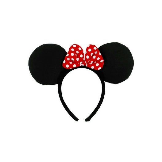 bcc93027c00c3 Shop Elope Minnie Mouse Ears Headband Accessory - Red - Free Shipping On  Orders Over  45 - Overstock.com - 21332076