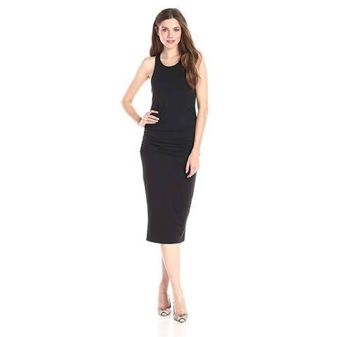 Michael Stars Women's Racerback Midi Dress, Black, SZ XS