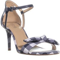 MICHAEL Michael Kors Pippa Mid Sandal Bow Sandals, Admiral/Optic White - 6.5 us / 36.5 eu
