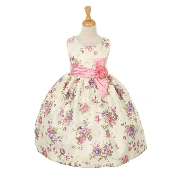 19638cd01f5 Shop Cinderella Couture Girls Pink Jacquard Bow Occasion Easter Dress 2-6 -  Free Shipping Today - Overstock - 18179613