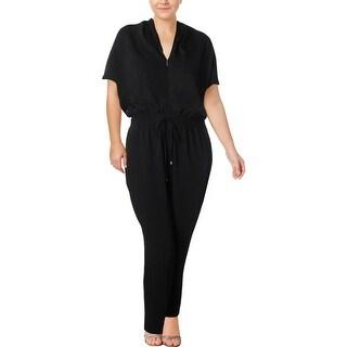 Lauren Ralph Lauren Womens Plus Jaleeza Jumpsuit Solid Dolman Sleeves