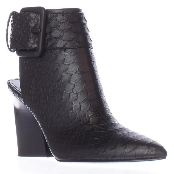 Sigerson Morrison Ice2 Pointed Toe Aklne Strap Boots, Nero/Black - 6 us