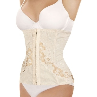 Unique Bargains Ladies Flower Printed Slimming Underbust Belt Waist Girdle Body Shaper Cincher M