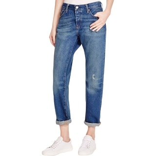 fe04194c Shop Levi's Womens 501 CT Boyfriend Jeans Distressed Button Fly - Free  Shipping On Orders Over $45 - Overstock - 14154956