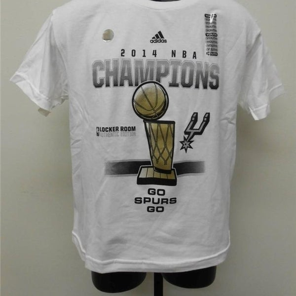 San Antonio Spurs Youth 14-16 Large 2014 Locker Room Championship Shirt  65Ma. Click to Zoom 20d27bd2d