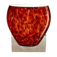 Besa Lighting 1WZ-412241 Bolla 1-Light Bathroom Sconce with Garnet Glass Shade - Chrome