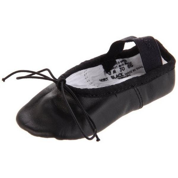Capezio Unisex Child Whole Sole Daisy Ballet Shoe, Black, 8M