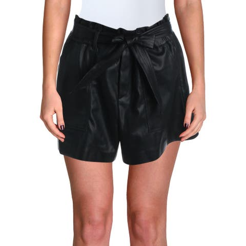 [BLANKNYC] Womens Shorts Faux Leather Pull On - Black - 30