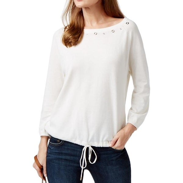 MICHAEL Michael Kors Womens Pullover Top Knit Grommet