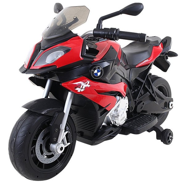 Costway Kids Ride On Motorcycle Licensed Bmw 12v Battery Ed Toy W Training Wheel