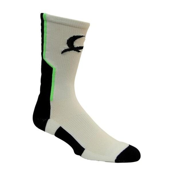 Cinch Western Socks Mens Reinforced Heels Toes White Black