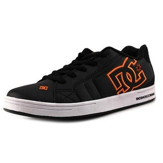 DC Shoes Net Youth Round Toe Leather Black Skate Shoe