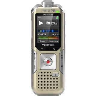 Philips Voice Tracer 8010 Digital Recorder, 8 Gb, Gold/Silver