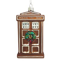 "Doctor Who Gingerbread TARDIS 4.5"" Ornament"
