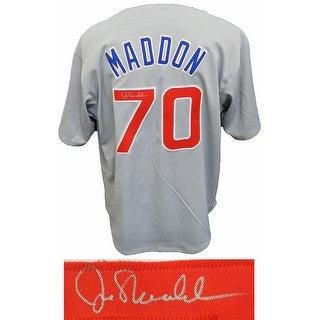 Joe Maddon Signed Grey Custom Baseball Jersey