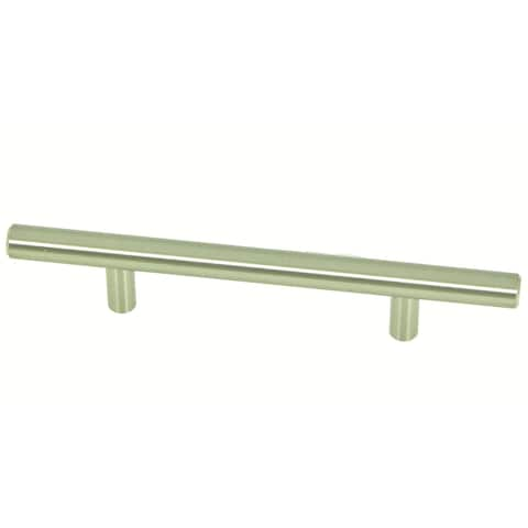 Stone Mill Hardware - Satin Nickel Cabinet Drawer Bar Pulls (Pack of 5)