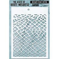 "Dragon Scales - Brett Weldele Stencil Collection 6.5""X4.5"""