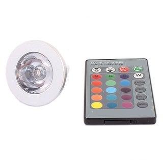 MR16 Decorative Spotlight Light RGB LED Lamp Bulb 3W AC85V-265V w Remote Control