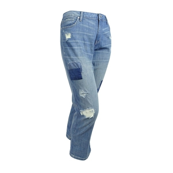 d046ab2dc89 Shop Tommy Hilfiger Women's Paisley Ripped Boyfriend Jeans (16, Medium  Wash) - Medium Wash - 16 - Free Shipping Today - Overstock - 19771786