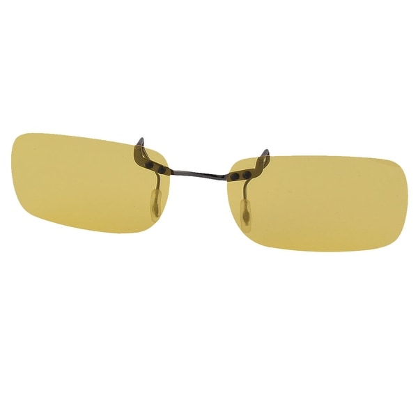 5fd79d966d Rimless Lens Clip On Polarized Sunglasses Spectacles Black Clear Yellow