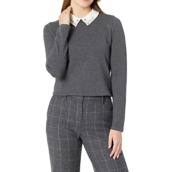 Shop CeCe Gray White Womens Size Medium M Embellished