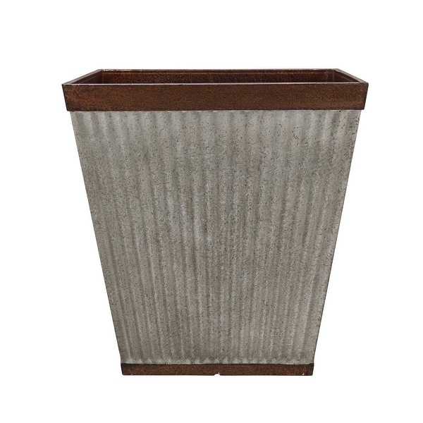 Westlake Square Planter, Rustic Faux Galvanized. Opens flyout.