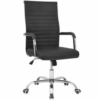 "vidaXL Office Chair Artificial Leather 21.7""x24.8"" Black"