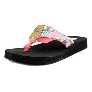 Yellow Box Macaw Women Open Toe Faux Leather Pink Flip Flop Sandal