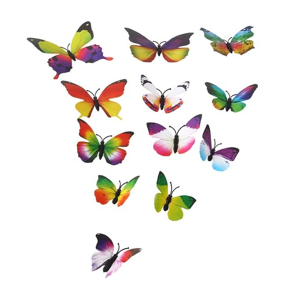 12pcs 3D Butterfly Wall Sticker Decal Sticker for Home Room Decoration Colorful
