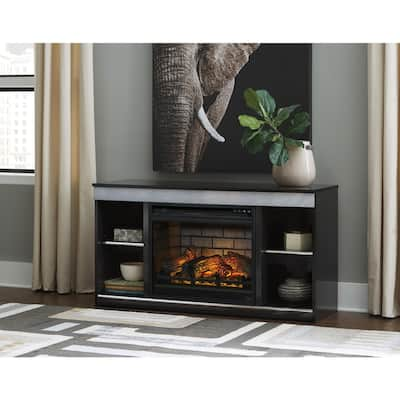 Entertainment Accessories Contemporary Fireplace Insert Infrared Black