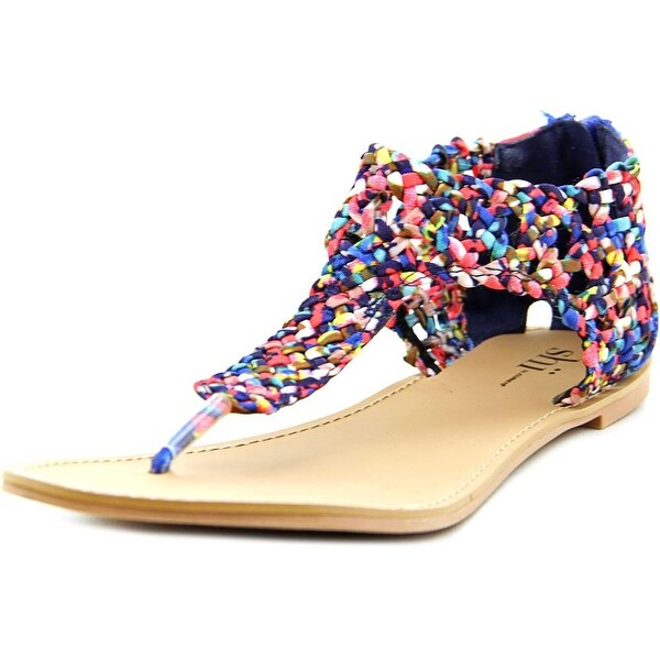 Famous Name Brand Surf Blue Women  Open Toe Synthetic Multi Color Thong Sandal