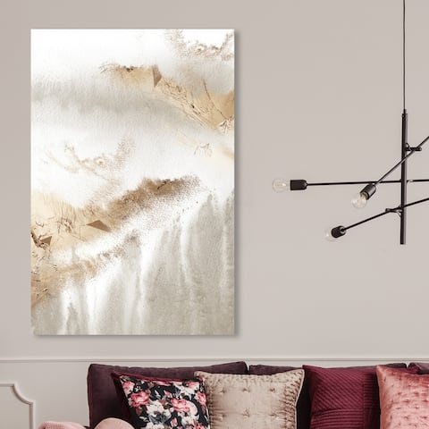 Oliver Gal 'Delicate Majestic' Abstract Wall Art Canvas Print Textures - White, Gold