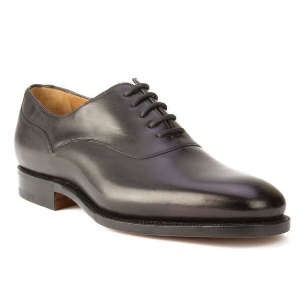 Ralph Lauren Purple Label Men's Leather Oxford Dress Shoes Black