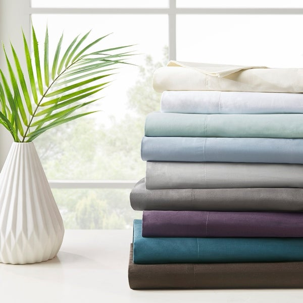 Sleep Philosophy and Liquid Pima Cotton 300 Thread Count Bed Sheet Set with Optional Pillowcase Separates. Opens flyout.