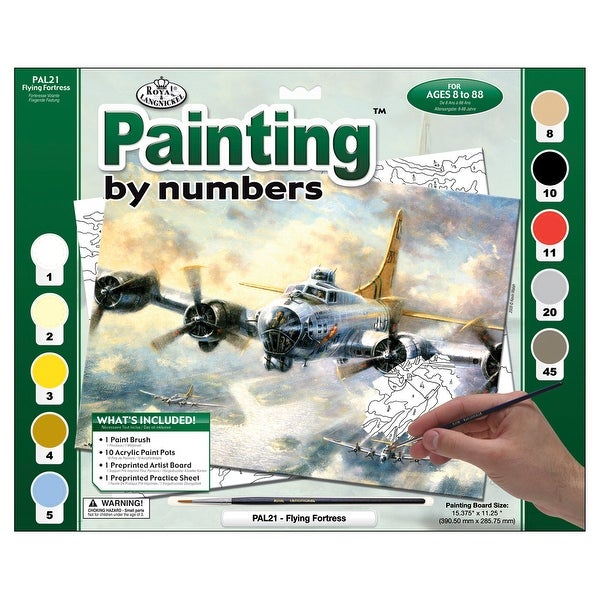 """Paint By Number Kit 15.375""""X11.25""""-Flying Fortress"""