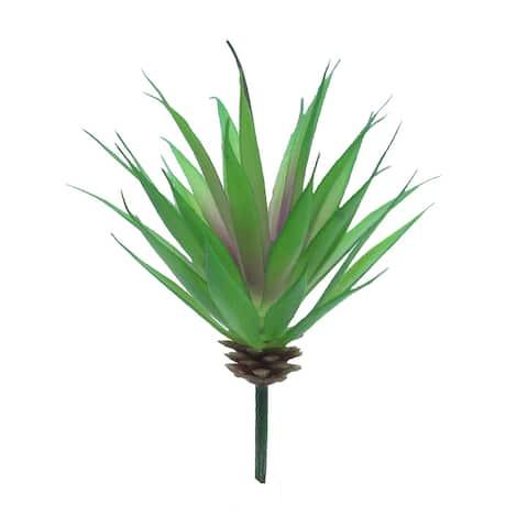 "Set of 3 Aloe Succulent Stem Greenery Pick 7in - 7"" H x 5"" D"