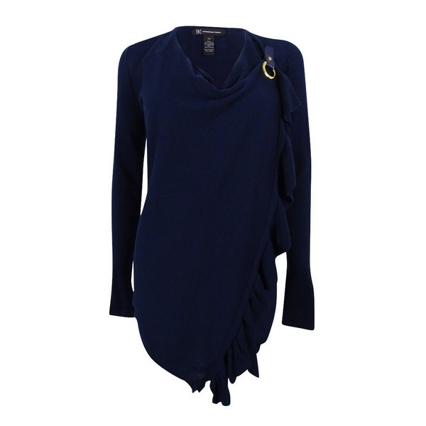 INC International Concepts Women's Ruffled Wrap Sweater