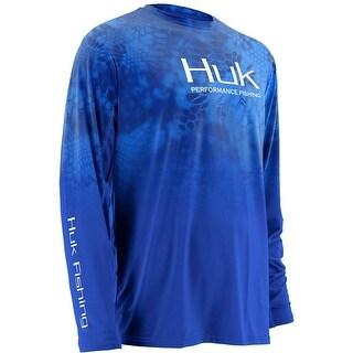 Huk Men's Kryptek Fade Icon Royal Small Long Sleeve Shirt