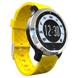 TechComm F69 IP68 Waterproof Bluetooth Smart Watch with Heart Rate (Option: Yellow)