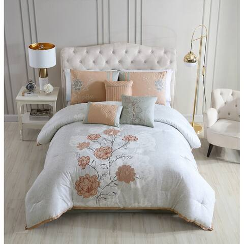 Riverbrook Home Bridget 7 Piece Embroidered Comforter Set