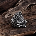 Vienna Jewelry Stainless Steel Owl's Emblem Ring - Thumbnail 1
