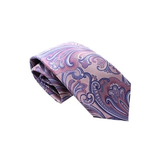 Countess Mara Hand Made Addison Core Paisley Classic Silk Neck Tie Pink