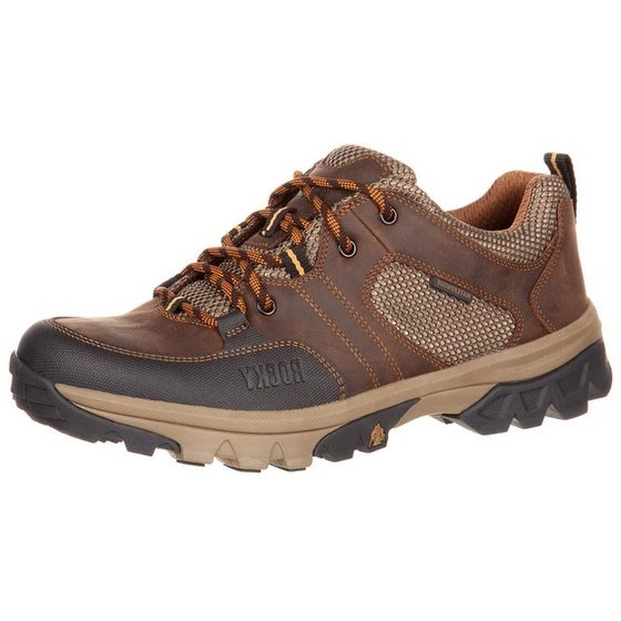 Rocky Outdoor Shoe Mens Endeavor Point Waterproof Oxford Brown