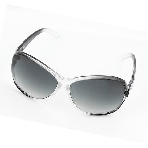 Woman Full Frame Single Bridge Gray Lens Glasses Sunglasses