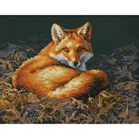 "Sunlit Fox Counted Cross Stitch Kit-14""X11"" 14 Count"