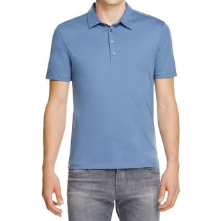 John Varvatos NEW Blue Mens Size XL Pima Cotton Polo Rugby Shirt